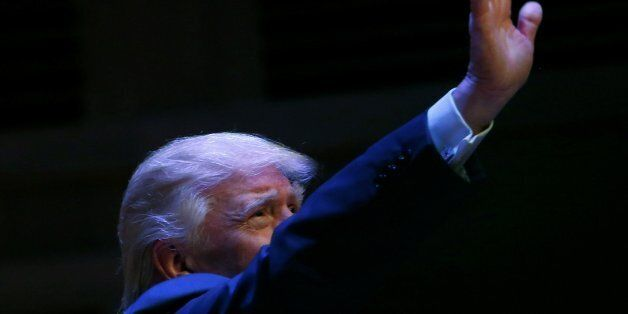 Republican U.S. Presidential nominee Donald Trump attends a campaign event at the Merrill Auditorium...