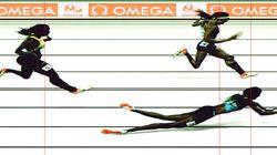 여자육상 400m 결승전에서 나온 '슬라이딩'