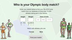 당신과 비슷한 체형을 가진 올림픽 선수를 찾는 방법이