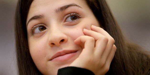 Syrian swimmer Yusra Mardini who fled to Germany with her family and who is currently training with a...