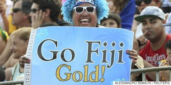 처음으로 올림픽 메달을 딴 피지는 더 흥겨울 수 없다
