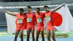 일본 남자 육상이 400m 계주 은메달로 세계를 놀라게 하다