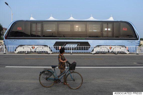 중국 '터널버스' 프로젝트의 배후에는 불법 대출업체가