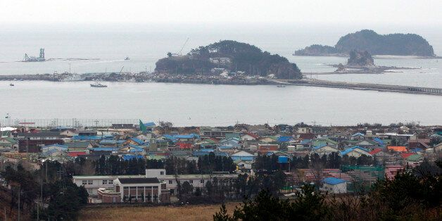 A general view shows Yeonpyeong Island, South Korea, Tuesday, Nov. 22, 2011. A year ago Wednesday, North...