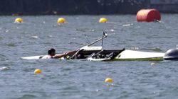 세르비아 선수들이 바이러스로 가득한 물에
