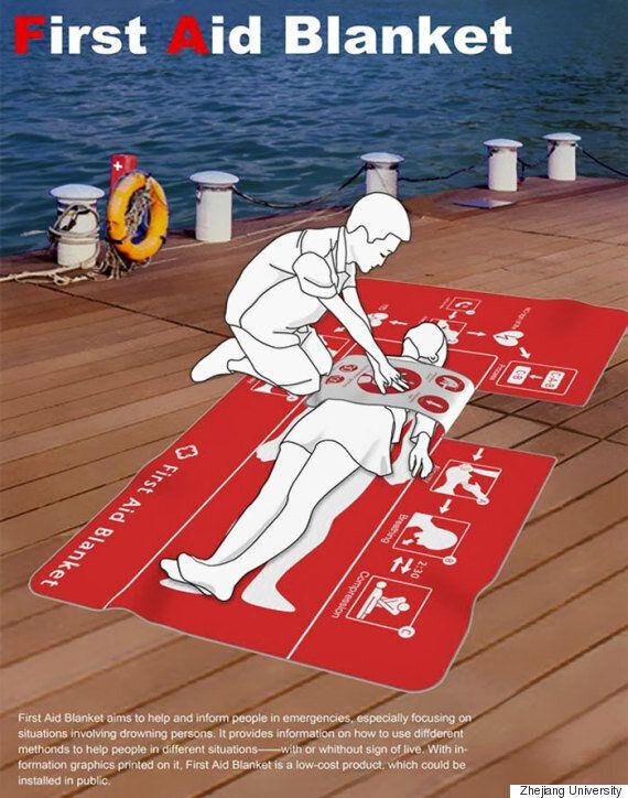 물에 빠진 사람의 생명을 살리는 담요가