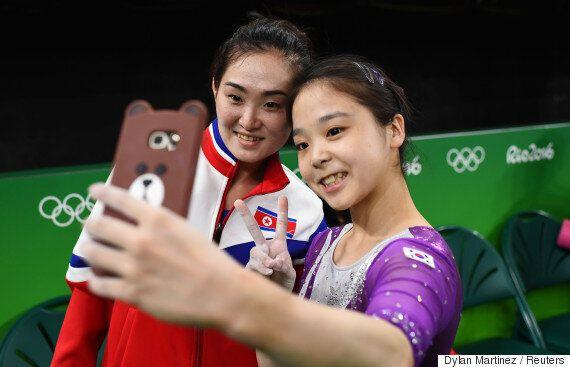 한국의 이은주와 북한의 홍은정은 리우 올림픽의 상징이 되었다(사진