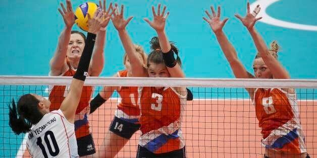 2016 Rio Olympics - Volleyball - Women's Quarterfinals - South Korea v Netherlands - Maracanazinho -...