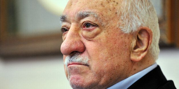 FILE - In this Sunday, July 17, 2016 file photo, Islamic cleric Fethullah Gulen speaks to members of...