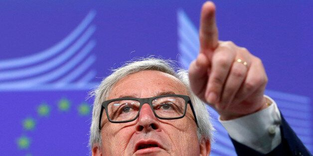 European Commission President Jean-Claude Juncker briefs the media after Britain voted to leave the bloc,...