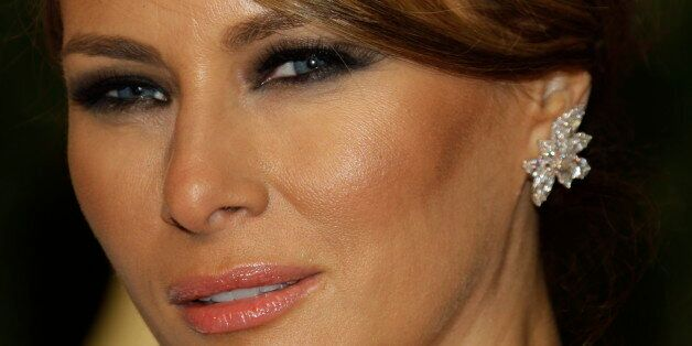 Melania Trump arrives at the Vanity Fair Oscar Party at the Sunset Tower in Los Angeles, Calif., Sunday,...