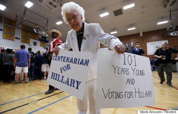 힐러리에게 표를 던진 102세 여성의 사연은 정말