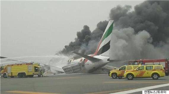 두바이 공항에서 착륙사고,