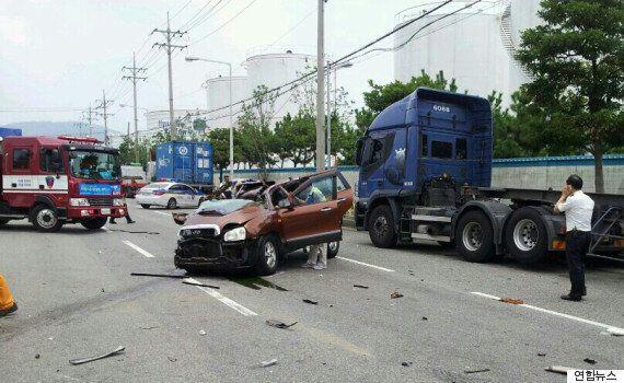 부산에서 일어난 SUV-트레일러 충돌사고는 차량결함일 가능성이