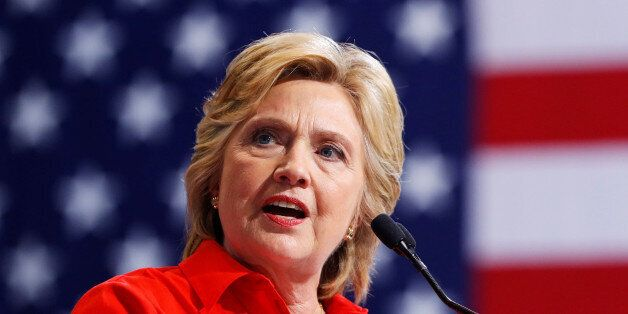Democratic presidential candidate Hillary Clinton speaks at the David L. Lawrence Convention Center in...