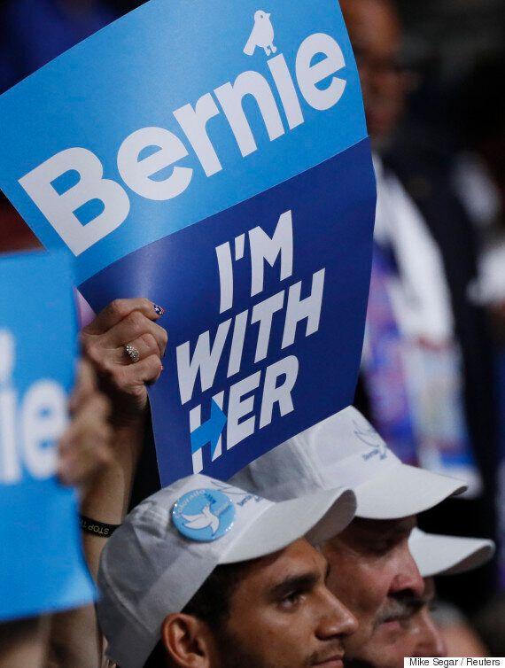 버니 샌더스 지지자의 90%는 힐러리 클린턴에게 투표할 것이라고 밝혔다