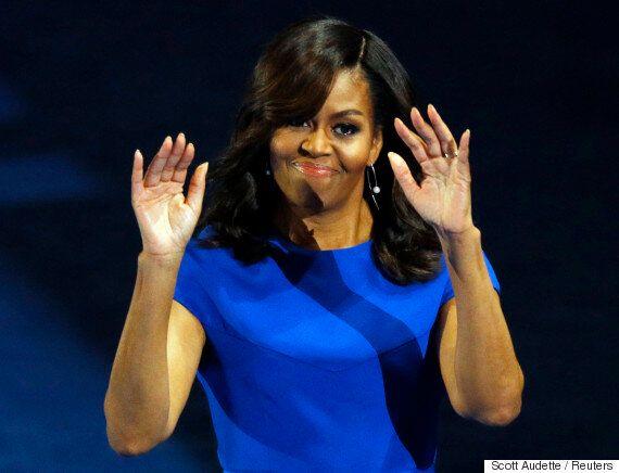 미셸 오바마는 클린턴과 트럼프 중 누가 자녀들의 '롤모델'이 되어야 하냐고