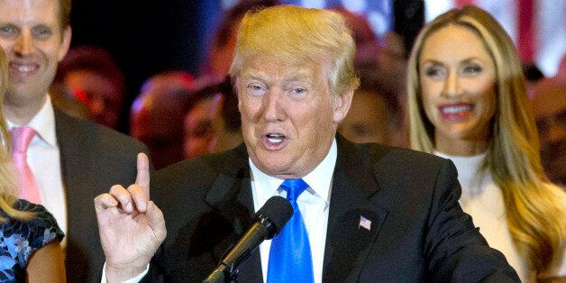 FILE - In this May 3, 2016, file photo, Republican presidential candidate Donald Trump speaks in New...