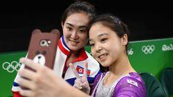 리우에서 만난 남북한 기계체조 선수들의