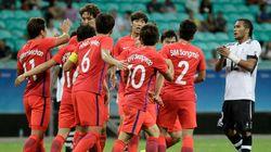 리우 올림픽 한국 축구대표팀이 피지를