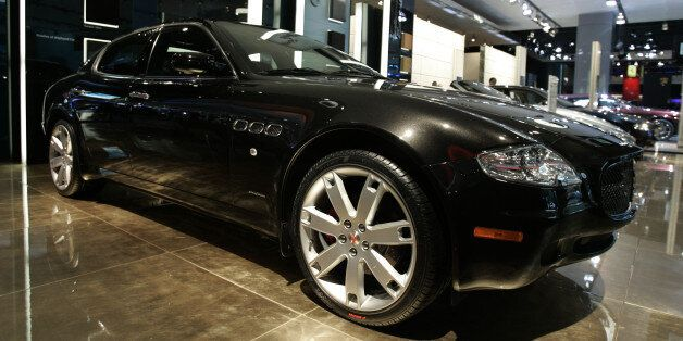 The Maserati Quattroporte Sport GT is shown on display at the North American International Auto Show...