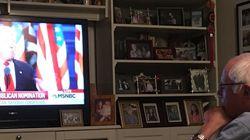 트럼프 연설을 지켜본 샌더스의 폭풍트윗