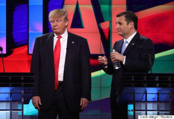테드 크루즈가 공화당 전당대회에서 트럼프를