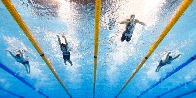 2016 Rio Olympics - Swimming - Final - Women's 400m Individual Medley Final - Olympic Aquatics Stadium...
