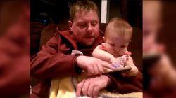 이 아기가 아빠 손을 계속 뿌리치는 이유는 정말이지