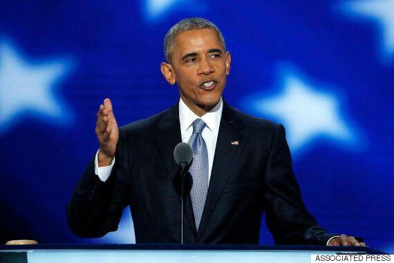 버락 오바마가 '내가 아는 미국'을 칭송하며 미국을 이끌 사람은 힐러리 클린턴이라고