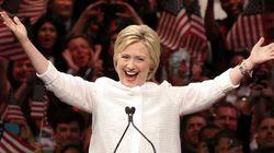 힐러리가 미국 민주당 대선후보로 공식