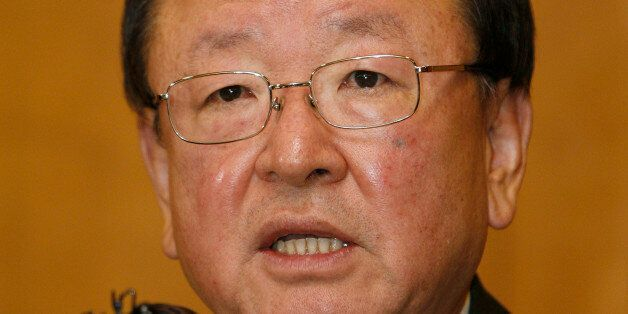 South Korea's Finance Minister Kang Man-soo speaks during a news conference at a main office of the Korea...