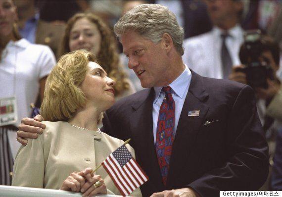 빌 클린턴이 대통령 후보와의 첫 만남을 민주당 전당 대회 무대에서