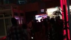 CNN 투르크 스튜디오에 군인들이