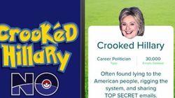트럼프가 '포켓몬 고'를 패러디한 '힐러리 노' 게임을