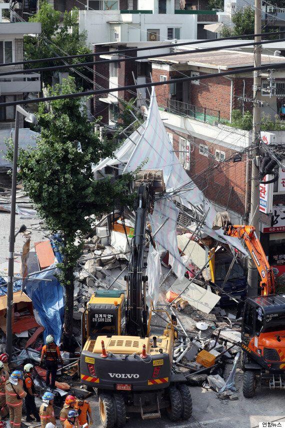 홍은동 붕괴된 건물에 매몰됐던 노동자, 결국