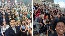 미국 공화당 1인자 폴 라이언이 올린 논란의 셀카에 민주당이