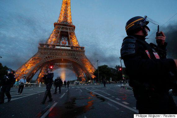 '유로 결승', 불과 몇 시간 전 파리 에펠 타워의 현장