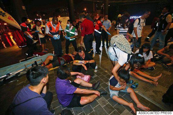 타이베이 통근열차에서 테러로 의심되는 폭발 발생했다(사진,