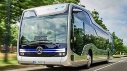 벤츠의 미래형 버스가 암스테르담 거리에