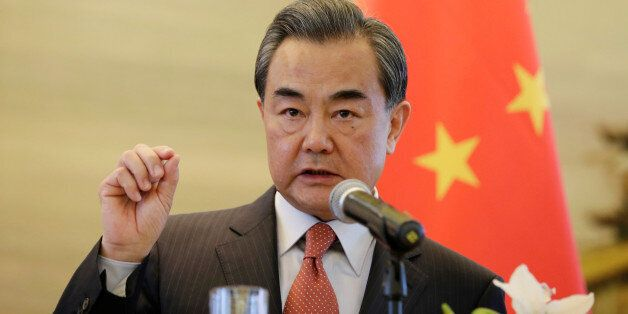 FILE - In this April 28, 2016, file photo, China's Foreign Minister Wang Yi speaks during a foreign ministers'...