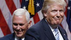 첫 공동 인터뷰에서 도무지 손발이 안 맞는 도널드 트럼프와 마이크