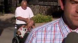 60대 남성이 휠체어에 탄 여친을 때리는 장면이 생방송을