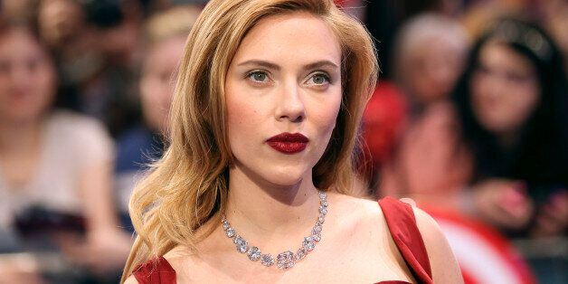 Actress Scarlett Johansson arrives at the UK premiere