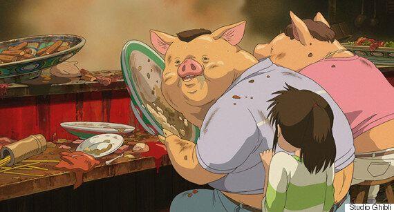 '센과 치히로의 행방불명'에서 치히로의 부모가 돼지로 변한 이유에 대한 지브리의 정말 상세한