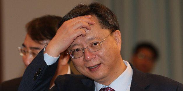 우병우 민정수석이 1월 19일 청와대에서 열린 영상국무회의에 참석하고