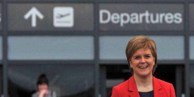 Nicola Sturgeon, the First Minister of Scotland, smiles during a EU referendum remain event, at Edinburgh...