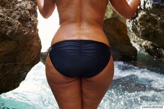 이 수영복 광고는 '허벅지 사이 간격'은 아무 것도 아니라고 말한다