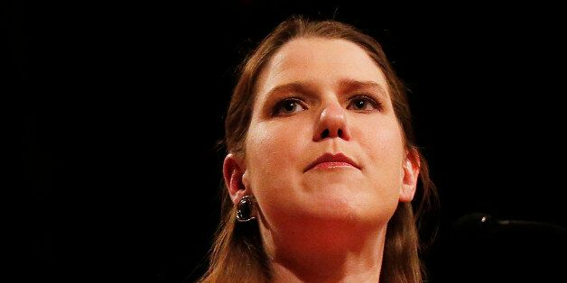 Britain's Liberal Democrat Minister for Women and Equalities, Jo Swinson, gives her keynote speech on...