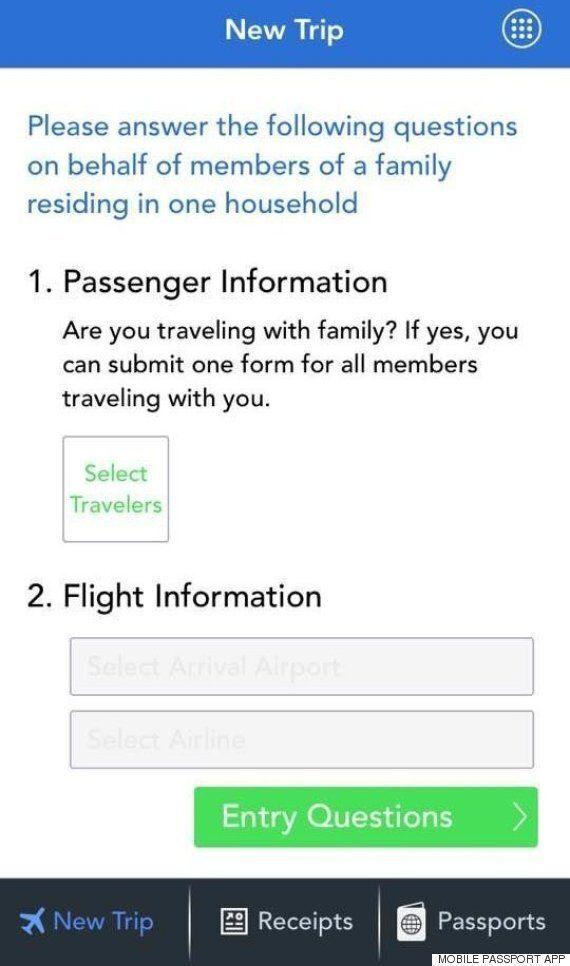 이 무료 스마트폰 앱을 받으면 미국 입국심사에 걸리는 시간이 놀랍게